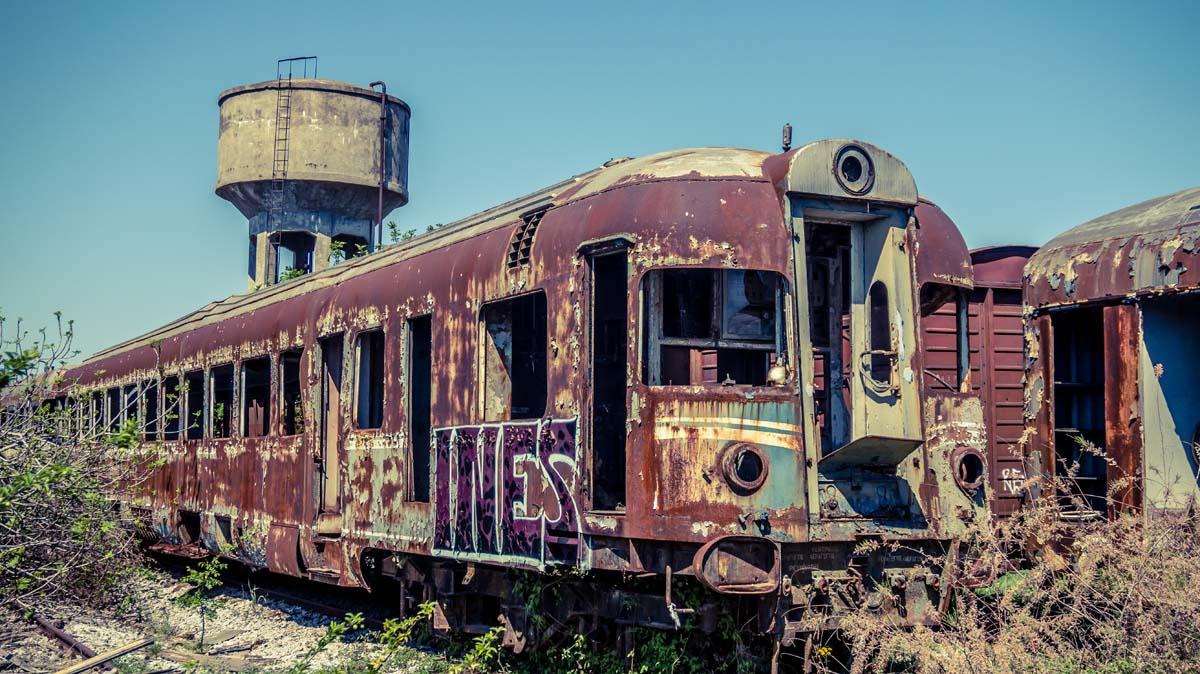 Thessalonikis verlassene Züge